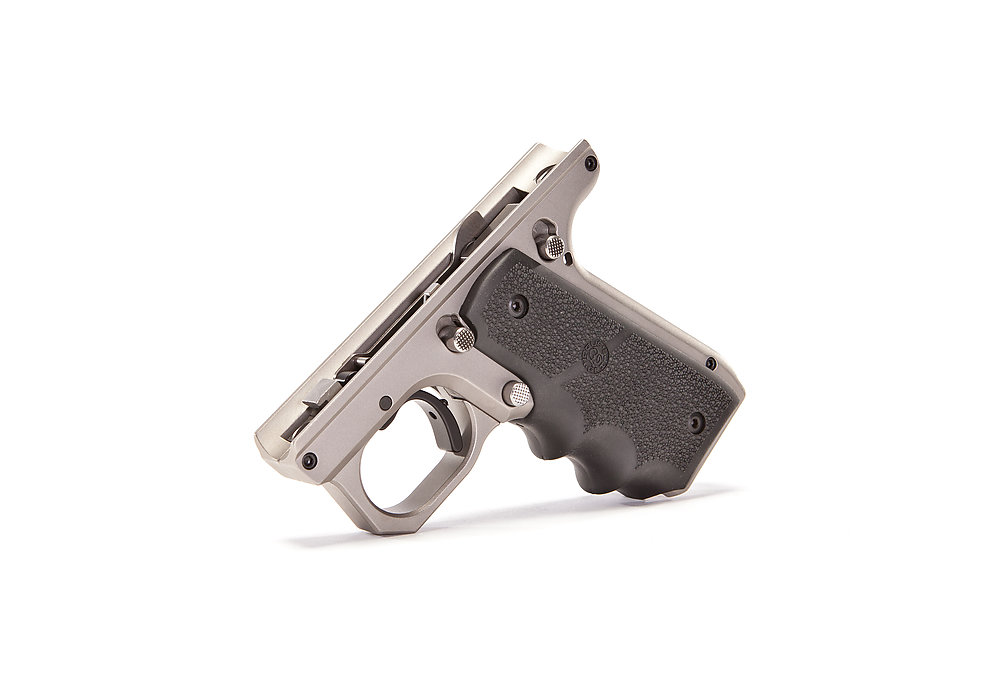 903 silver frame with hogue grips 1911