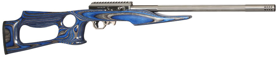 699 deluxe with blue laminated lightweight thumbhole